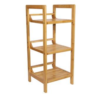 Bamboo Decorative 3 Tier Shelf Unit
