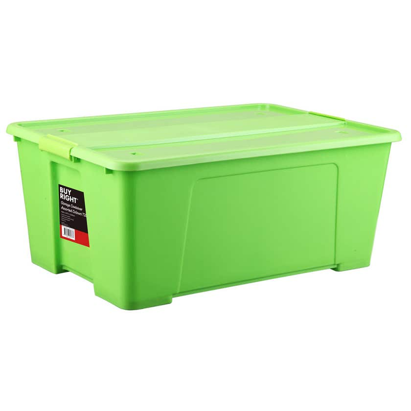Buy Right® Storage Container Assorted Colours 72L