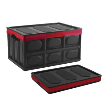 Buy Right Collapsible Storage Box Black/Red 20L