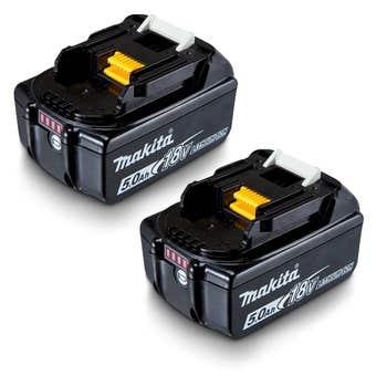 Makita 18V 5.0Ah Battery Twin Pack