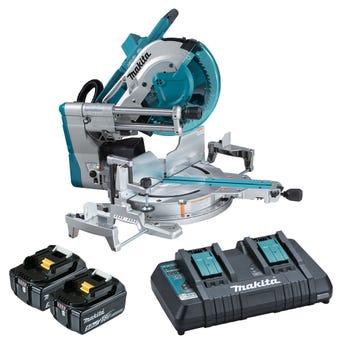 """Makita 18V x 2 Brushless AWS* 305mm (12"""") Slide Compound Saw Kit DLS211PT2"""