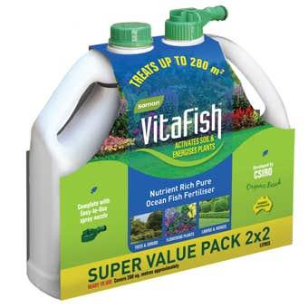 Samon VitaFish Pure Ocean Fish Fertiliser 2 Litre - 2 Pack