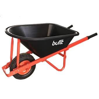 Built Heavy Duty Poly Tray Wheelbarrow 100L