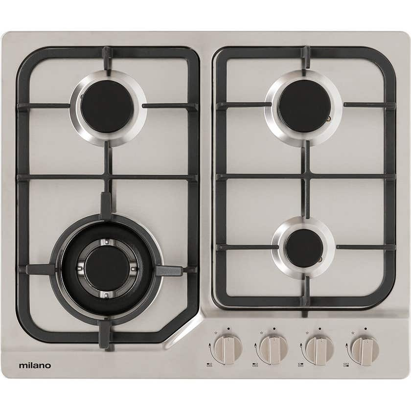 Hafele Milano Cast Iron Gas Cooktop Stainless Steel 60cm