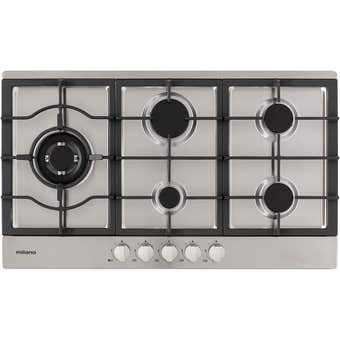 Hafele Milano Gas Cooktop Stainless Steel 90cm