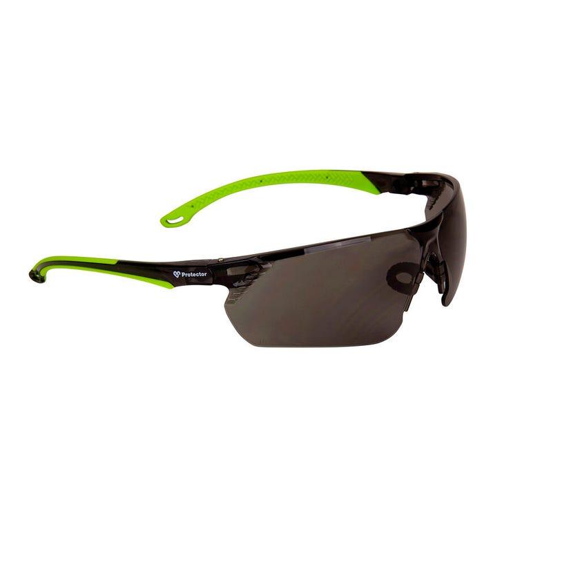 3M Safety Specs Smoke Lens HC Hi-Vis Green