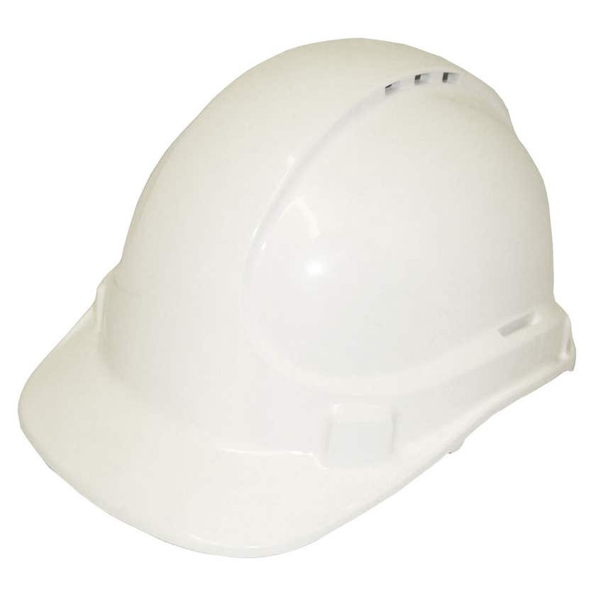 3M Protector Safety Helmet Vented White