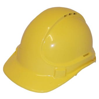 3M Protector Safety Helmet Vented Yellow