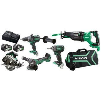 HiKOKI 5Pce MultiVolt Brushless Combo Kit