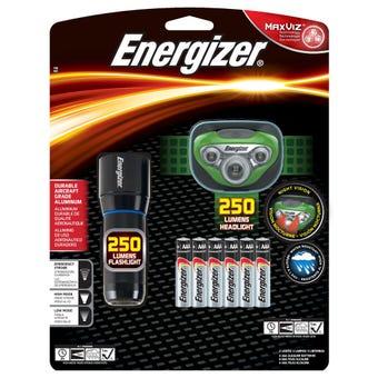 Energizer 250 lumen Torch & Headlight Gift Pack