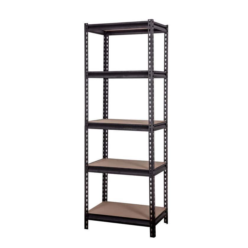 Storage Geelong 5 Tier Shelf Unit Black 1830 x 600mm