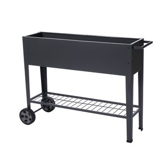 Mobile Charcoal Garden Bed 1000 x 280 x 800mm.