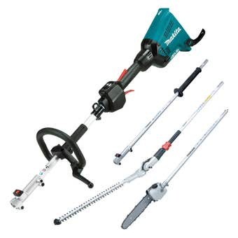 Makita 36V (18Vx2) Brushless Multi-Function Power Head, Pole Hedge and Saw Skin