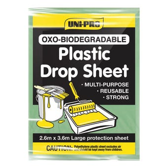 Uni-Pro Oxo-Biodegradable Plastic Drop Sheet 2.6m x 3.6m