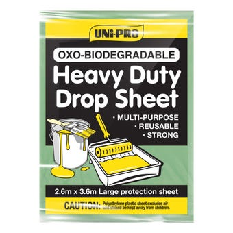 Uni-Pro Biodegradable Drop Sheet Heavy Duty 2.6M - 3.6M