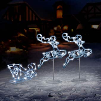 Arlec LED Reindeer Sleigh Cool White