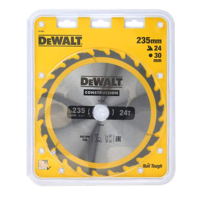 DeWALT Construction Circ Saw Blade 235mm x 24T