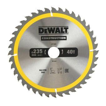 DeWALT Construction Circular Saw Blade 40T  235mm