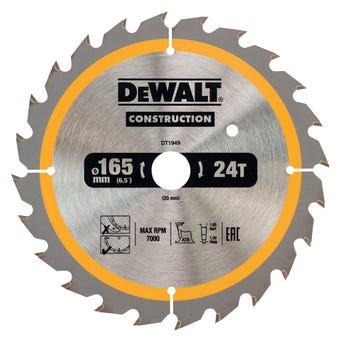 DeWALT Construction Circular Saw Blade 24T 165mm