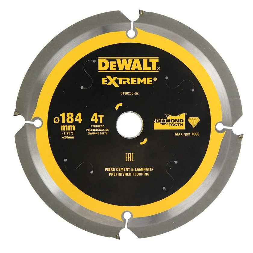 DeWALT Extreme Circular Saw Blade PCD Fibre Cement Sheet 4T 184mm