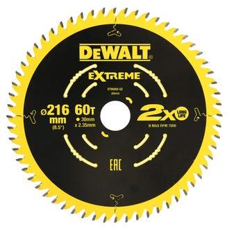 DeWALT Extreme Circular Saw Blade 60T 216mm