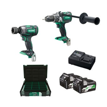 HiKOKI 18VMV Brushless Combo Kit - 2 Piece KC18DPL(HRZ)