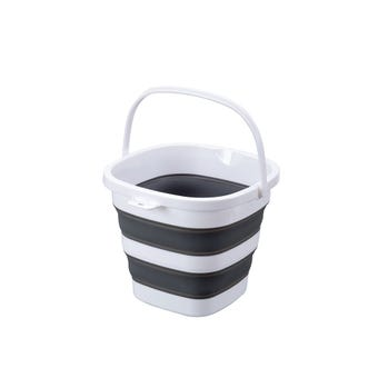Collapsible Bucket Grey & White 10L