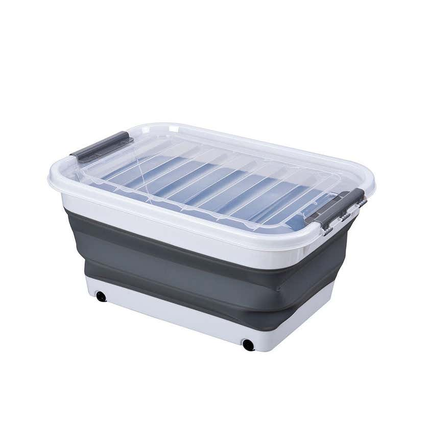 Collapsible Storage Tub With Wheels