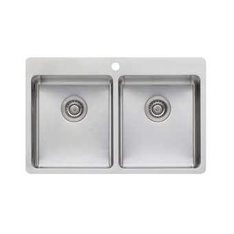 Oliveri Sonetto Double Bowl Topmount Sink