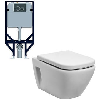 Johnson Suisse Gemelli Concealed Rimless Econoflush Toilet Suite