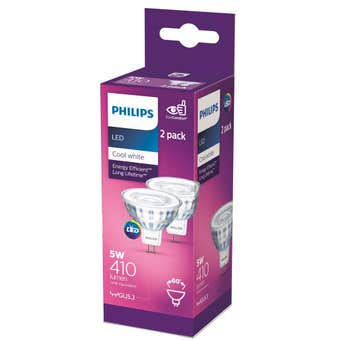 Philips LED Downlight MR16 5W 410lm Cool White - 2 Pack