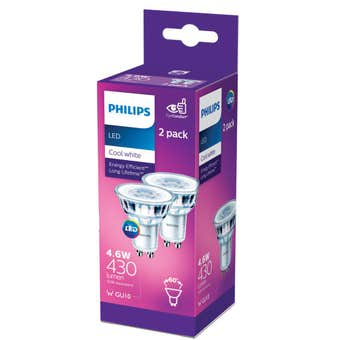 Philips LED Downlight MR16 4.6W 430lm Classic Cool White - 2 Pack