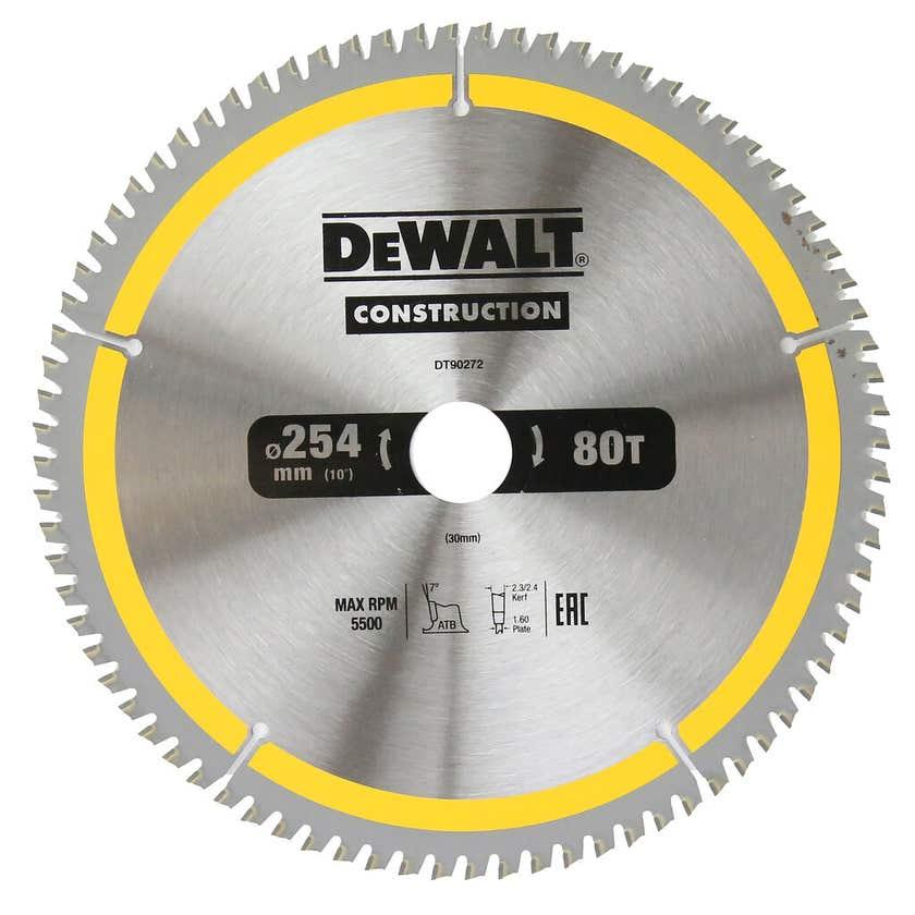 DeWALT Construction Circular Saw Blade 80T 254mm