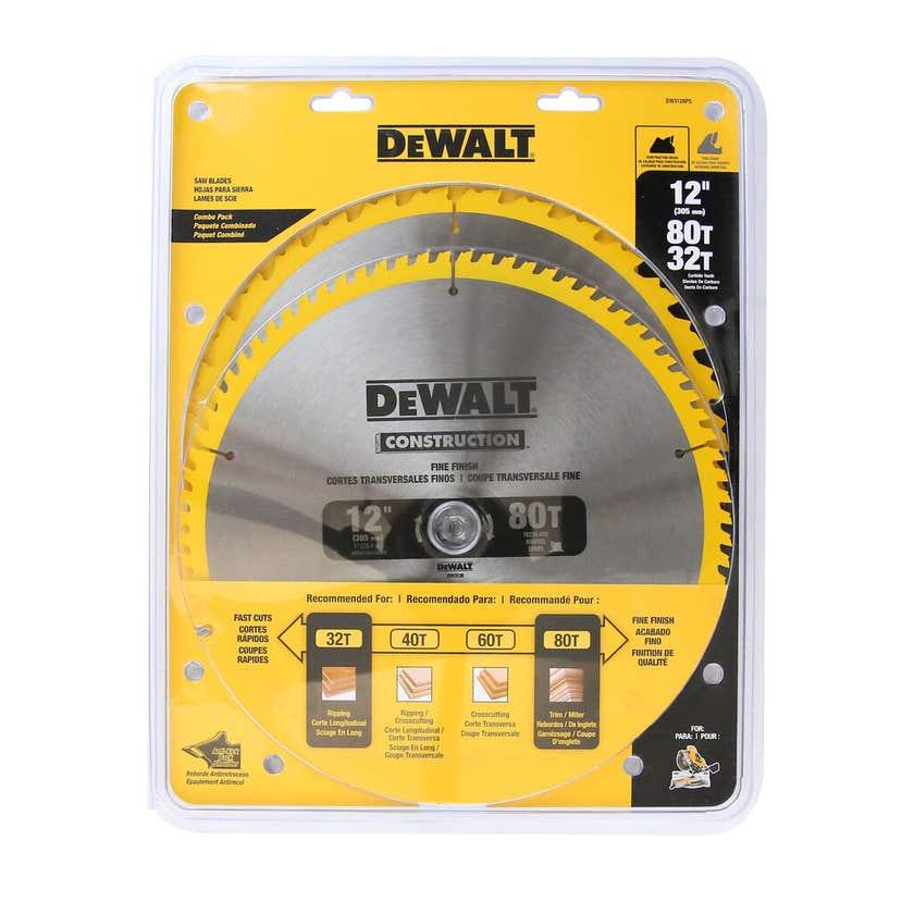 DeWALT Construction Circular Saw Blade 32T/60T 305mm - 2 Pack