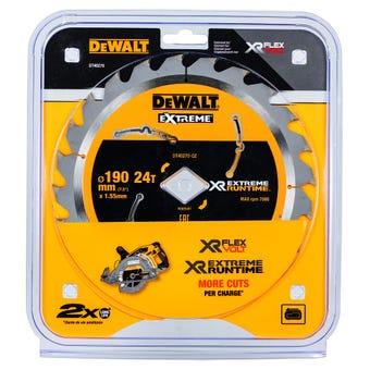 DeWALT Extreme Circular Saw Blade 24T 190mm