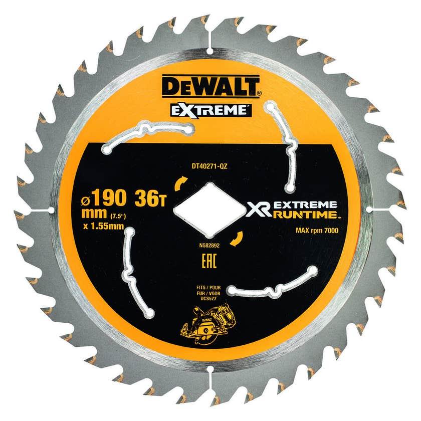 DeWALT Extreme Runtime Circular Saw Blade 36T 190mm