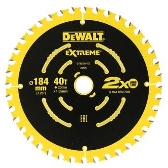 DeWALT Extreme 2x Life Circular Saw Blades 24/40T 184mm - 2 Pack