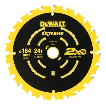 DeWALT Extreme Circular Saw Blade 24T 184mm - 3 Pack