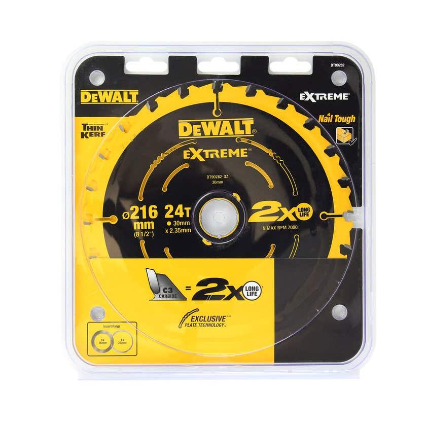 DeWALT Extreme Circular Saw Blade 24T 216mm