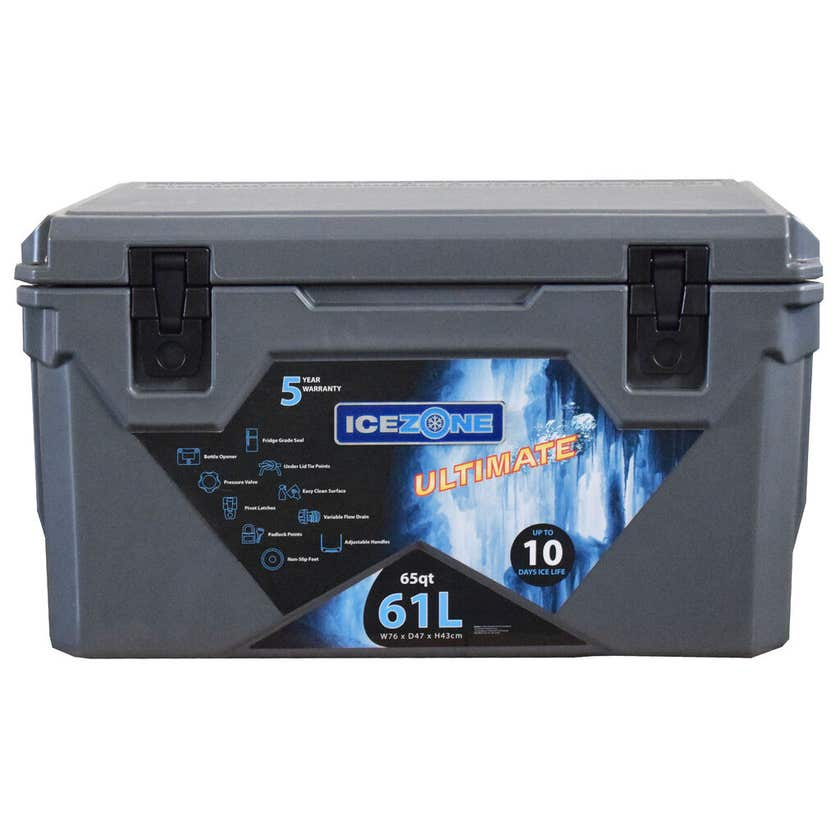 Icezone Ultimate Cooler Grey 61L