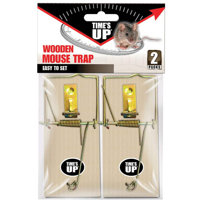 Times Up Wooden Mouse Trap - Two Pack