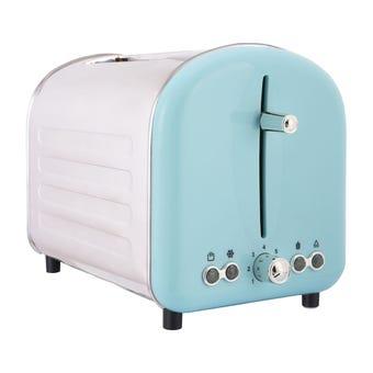 Retro 2 Slice Toaster Blue