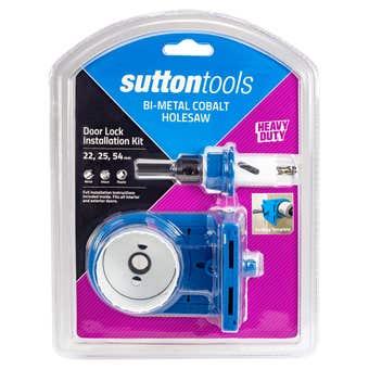 Sutton Tools Bi-Metal Cobalt Hole Saw Lock Installation Kit - 3 Piece