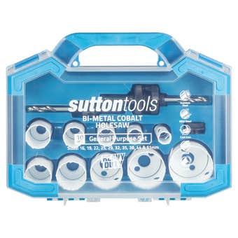 Sutton Tools General Purpose Bi-Metal Cobalt Hole Saw Set - 10 Piece
