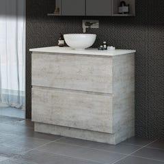 Timberline Nevada Plus Vanity Floor Standing 900mm Concrete