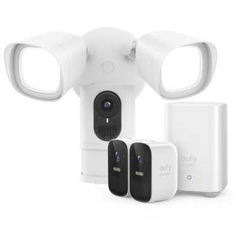 Eufy Security 2x Camera Set with Eufy Smart Floodlight