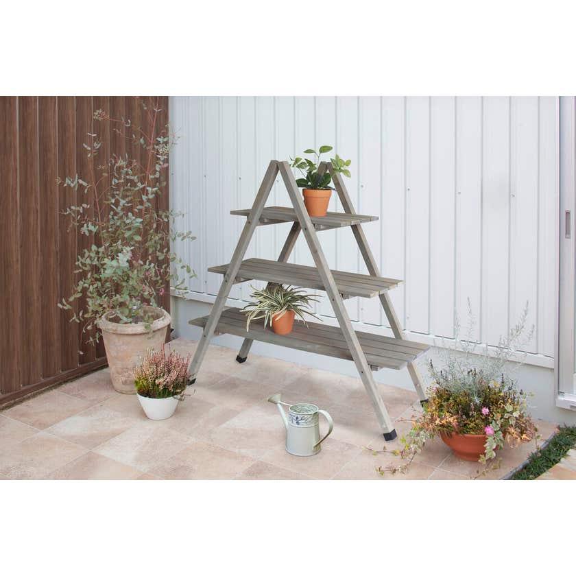 VegTrug Timber A Frame Plant Stand Grey Wash