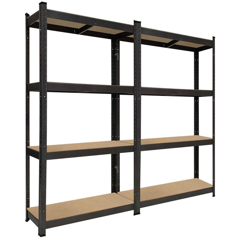 Garage Select™ 4 Shelf Boltless Garage Storage Unit - Twin Pack