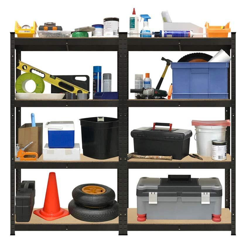 Garage Select 4 Shelf Boltless Garage Storage Unit - Twin Pack