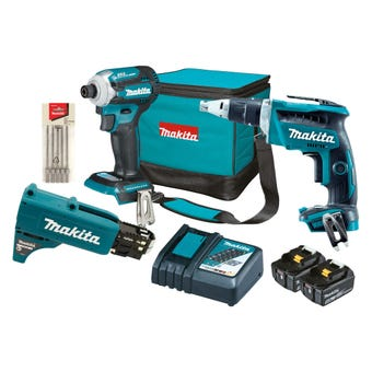 Makita 18V 5.0Ah Brushless Combo Kit - 2 Piece DLX2317TX1